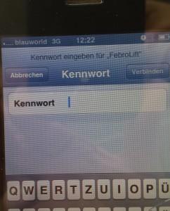 Kennwort-Maheroboter-Tiefgarage-App