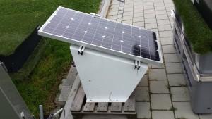 Solar-Garage-Rasenroboter