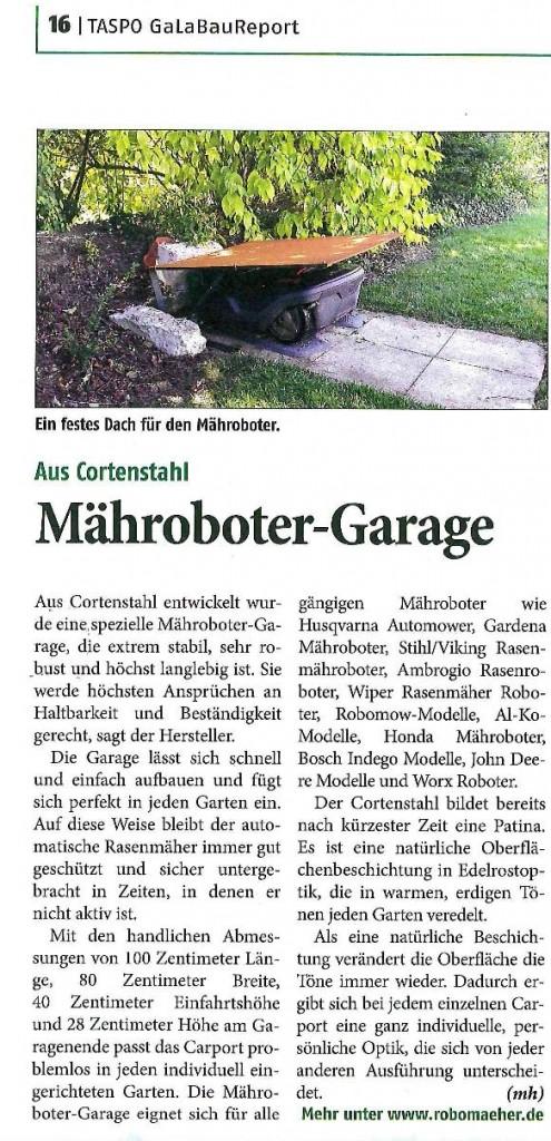 Cortenstahl-Garage-Taspo-Galabau-Report