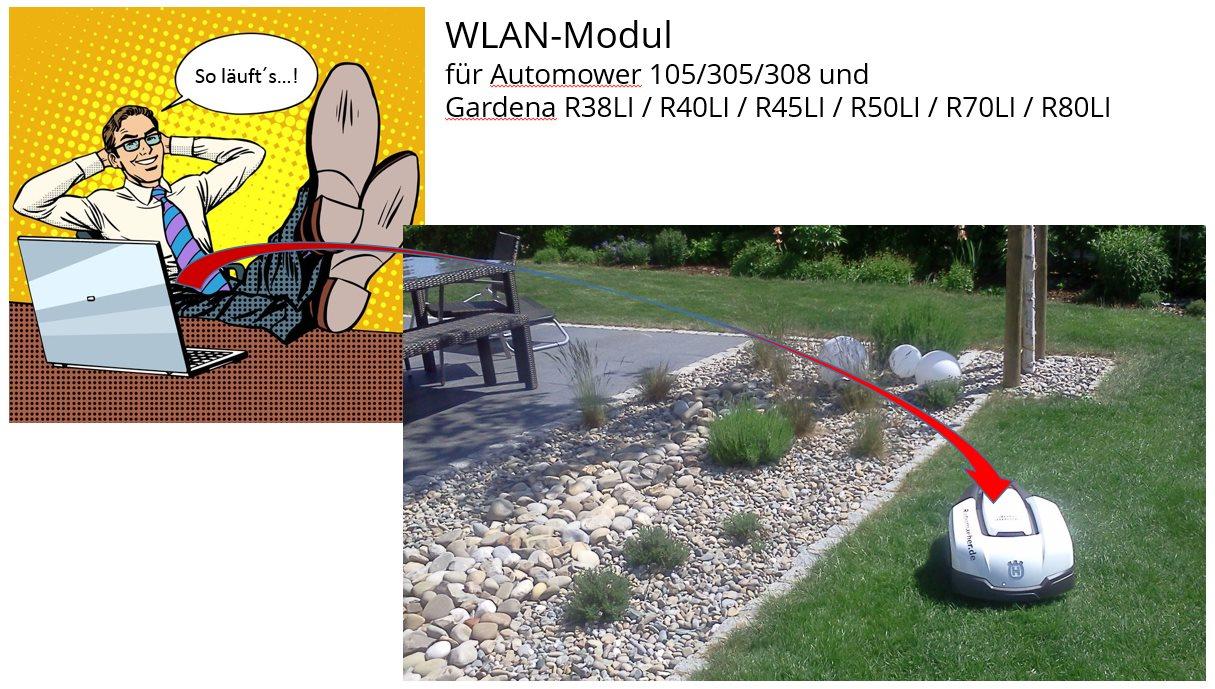 WLAN-Modul für Rasenroboter