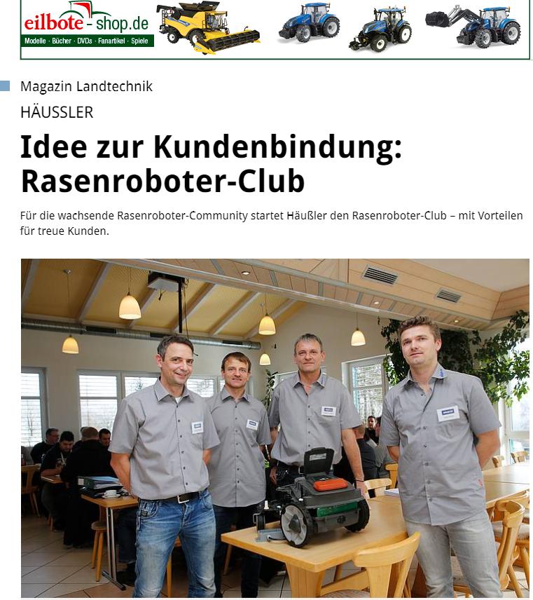 Eilbote-PR-Rasenroboter-Club