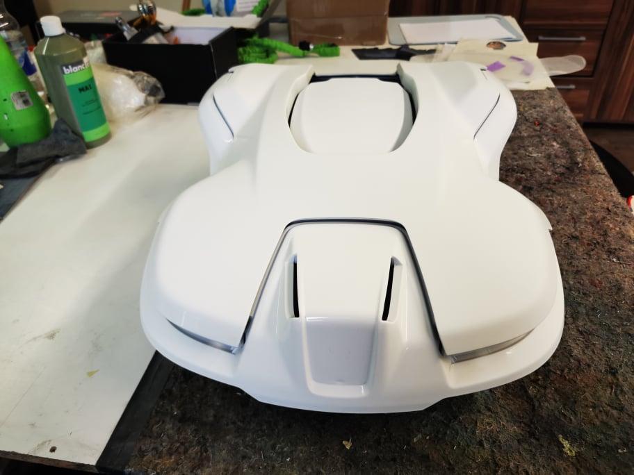 R2D2 - Gehäuse weiß lackiert